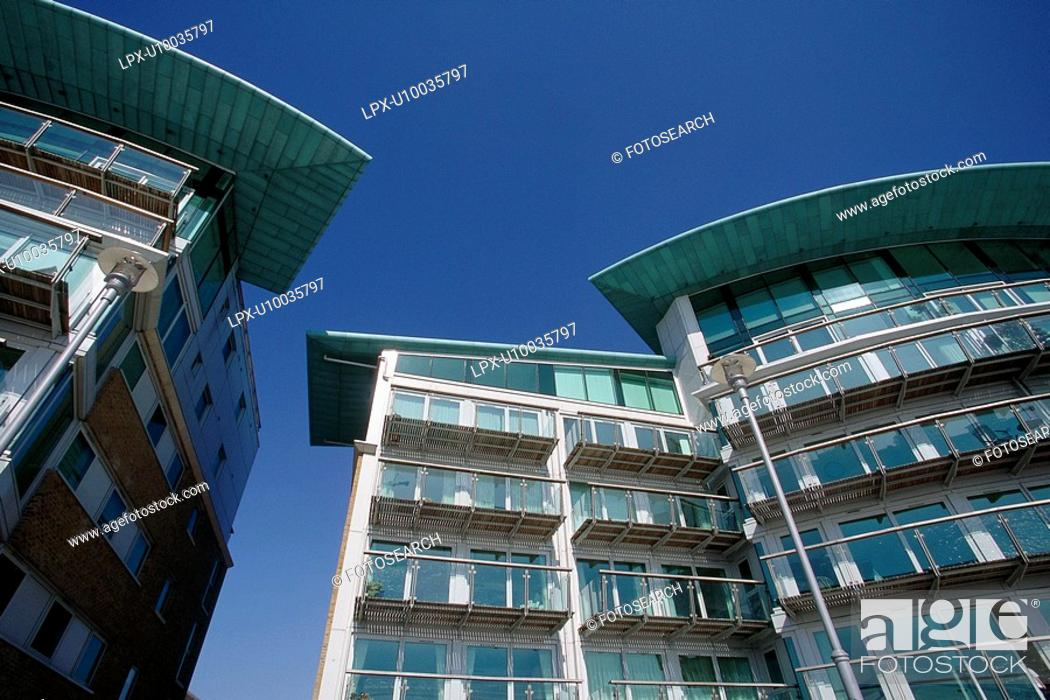 Stock Photo: New residential development.