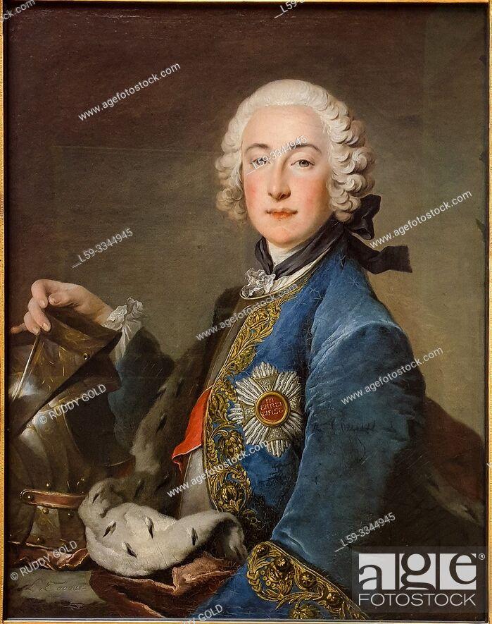 Stock Photo: 'Count Palatine Friedrich Michael of Zweibrücken-Birkenfeld', 1745, Louis Tocqué (1696-1772).
