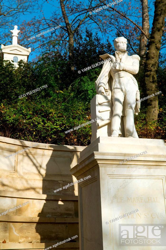 Stock Photo: Gouvion Saint Cyr's Tombstone, Pere Lachaise Cemetery, Paris, France.