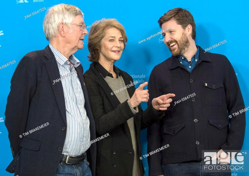 British actors Tom Courtenay (L-R), Charlotte Rampling and