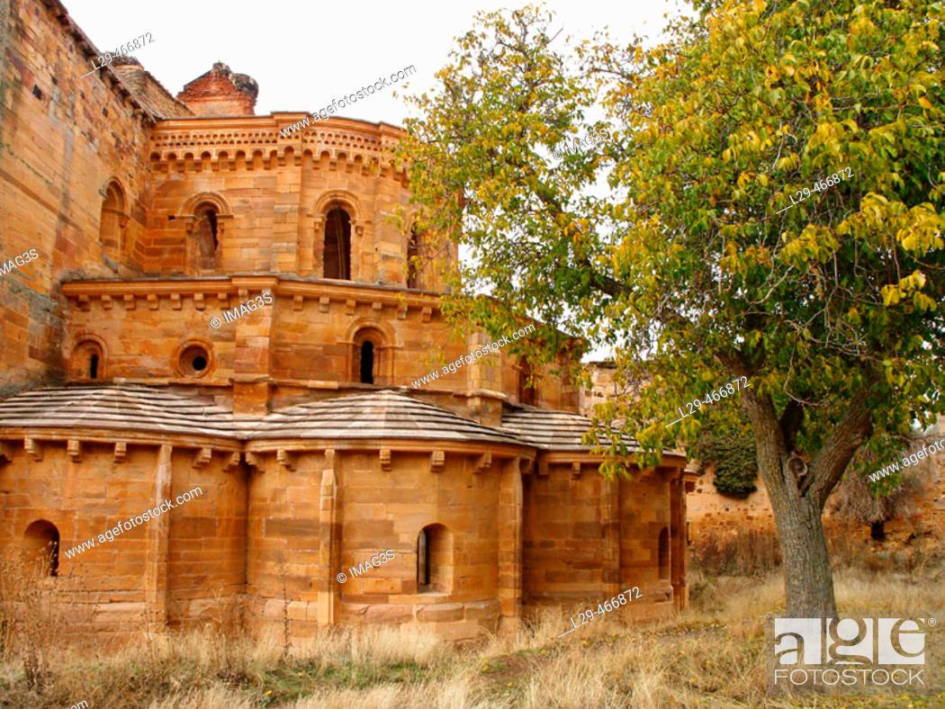 Stock Photo: Ruins of Santa María de Moreruela Cistercian monastery dating from 12th century, Granja de Moreruela. Zamora province, Castilla-Léon, Spain.