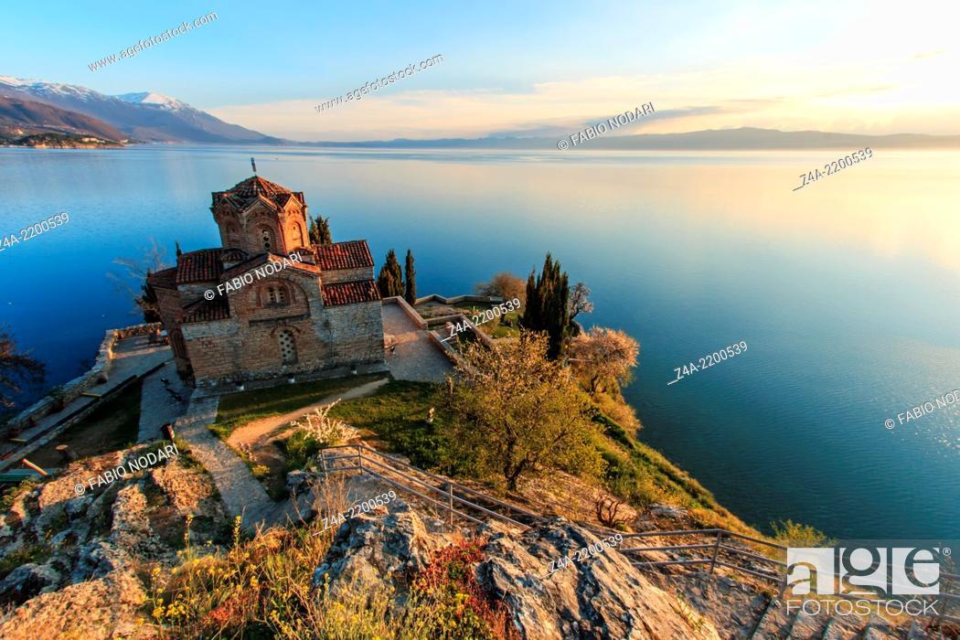 Stock Photo: Sveti (Saint) Jovan Kaneo Church on Lake Ohrid.