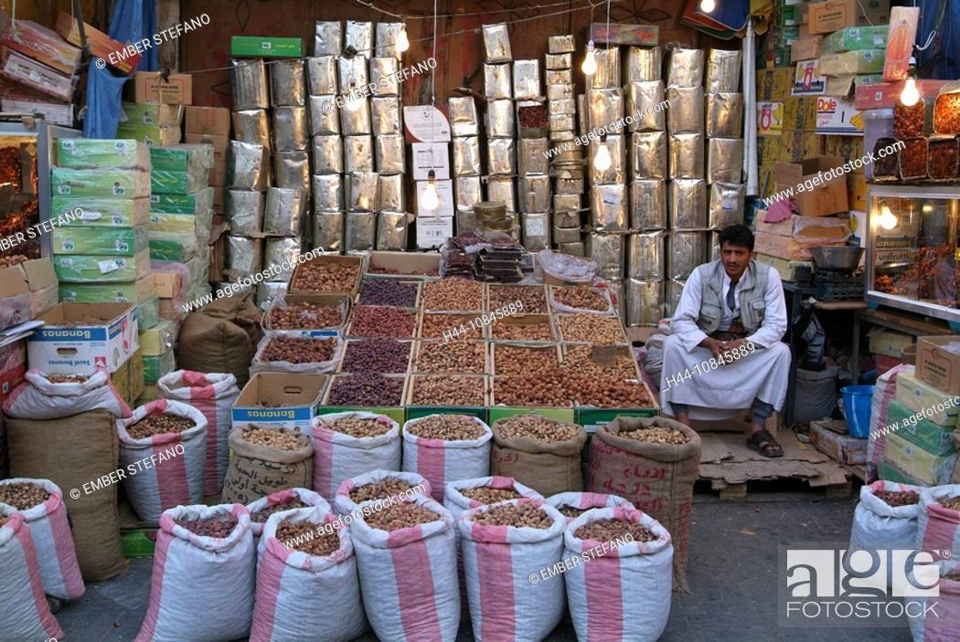 Stock Photo: Yemen, Sana'a, Sanaa, Old San'a, architecture, old city, town, UNESCO, world heritage site, Arabian, Arabic, Arab, tra.