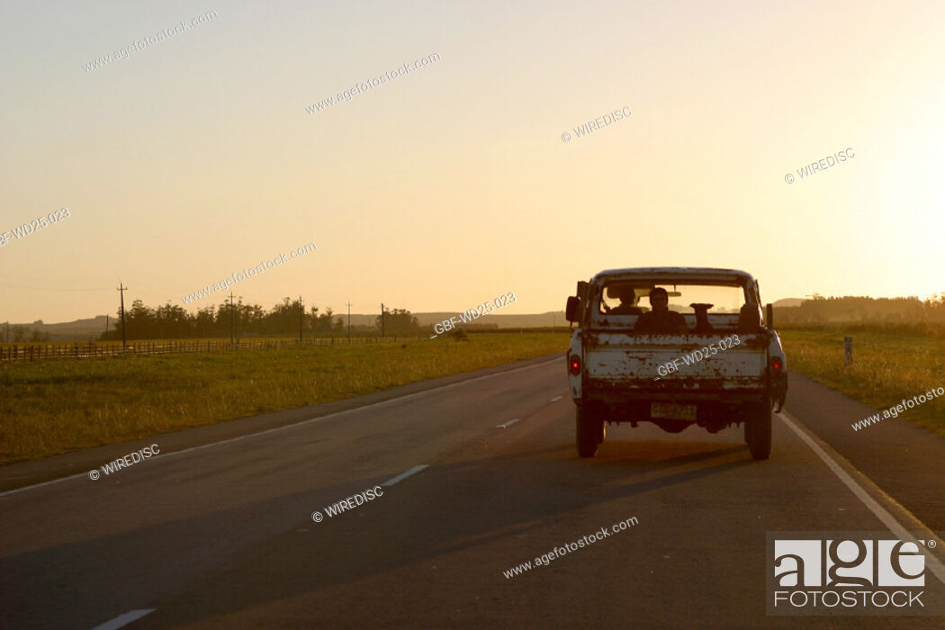 Stock Photo: Transport, road, pickup.
