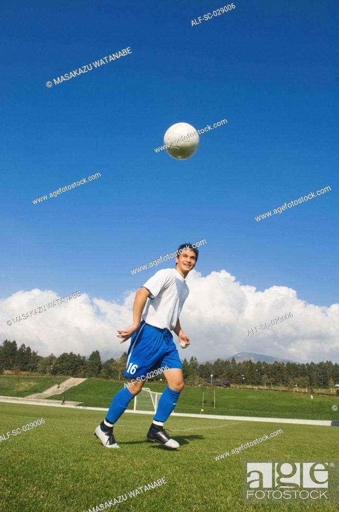 Stock Photo: Soccer Player Taking a Break.