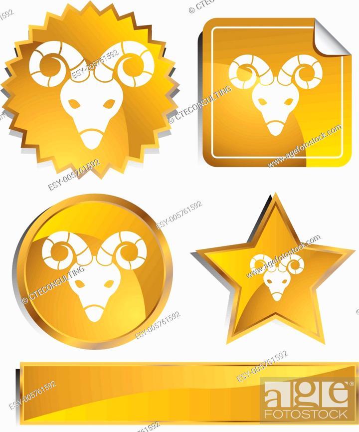 Stock Vector: air-gold-statin.