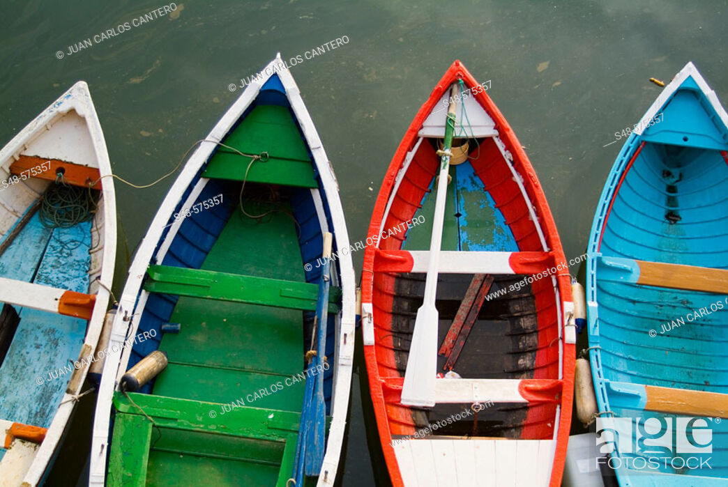 Stock Photo: Boats at port, Getxo. Biscay, Euskadi, Spain.