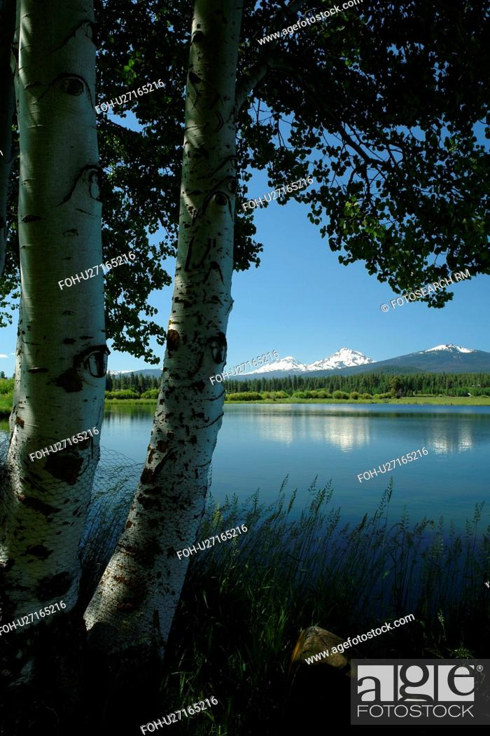 Three Sisters, OR, Oregon, Black Butte Ranch, lake, Cascade