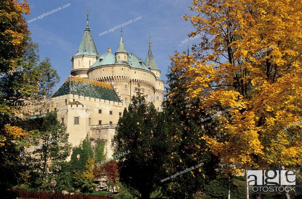 Stock Photo: The romantic medieval castle Bojnice, Slovakia.