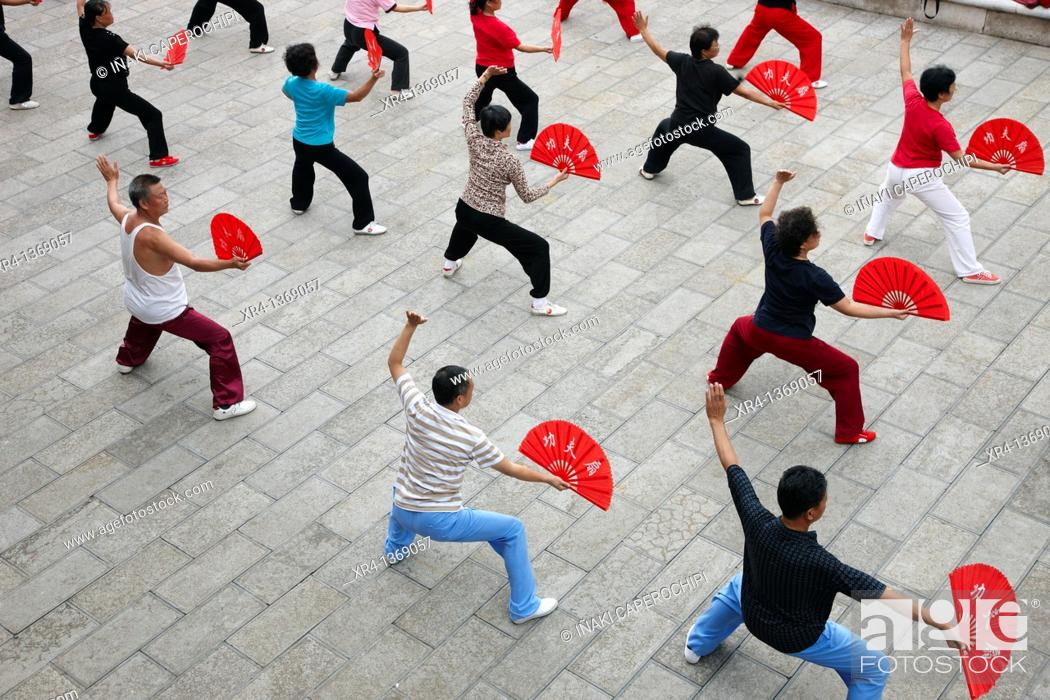 Stock Photo: Tai chi, Anshun, Guizhou, China.