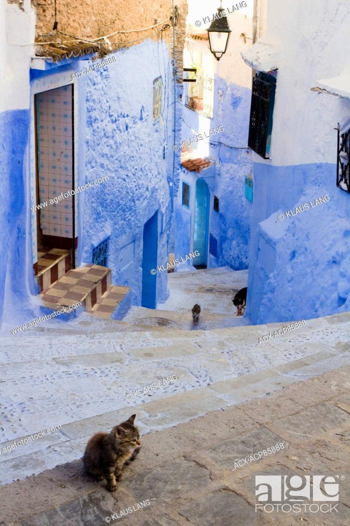 Stock Photo: Medina, Chefchaouen, Morocco.