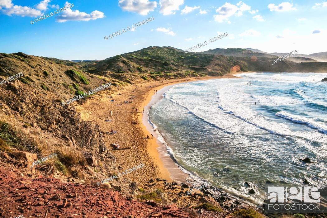 Stock Photo: Cavalleria Beaches. Es Mercadal Municipality. Minorca Island. Balearic Islands. Spain.