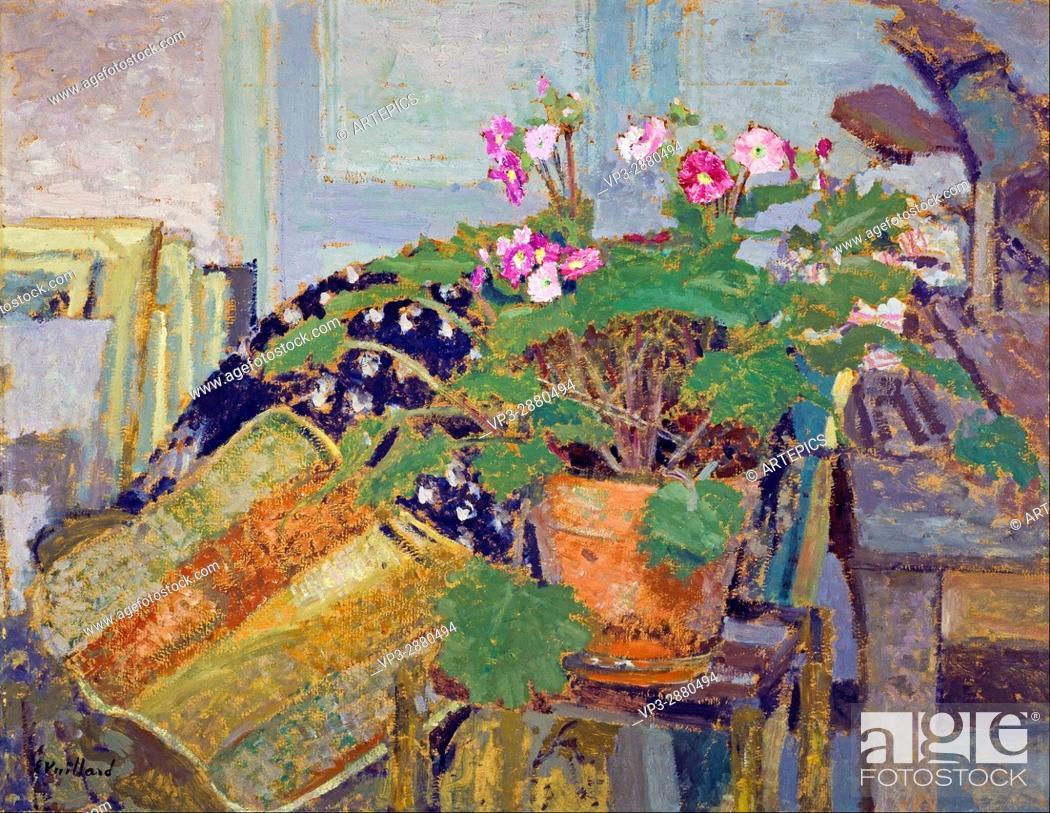 Stock Photo: Edouard Vuillard - Le Pot de fleurs (Pot of Flowers) - National Galleries of Scotland.