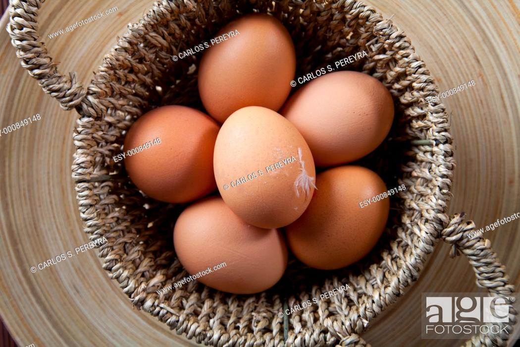Stock Photo: organic eggs from a farm in the Mediterranean.