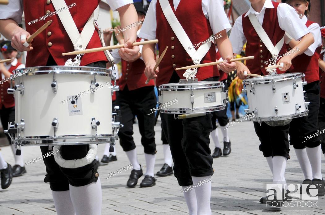 Stock Photo: Bavarian Drum Corps.