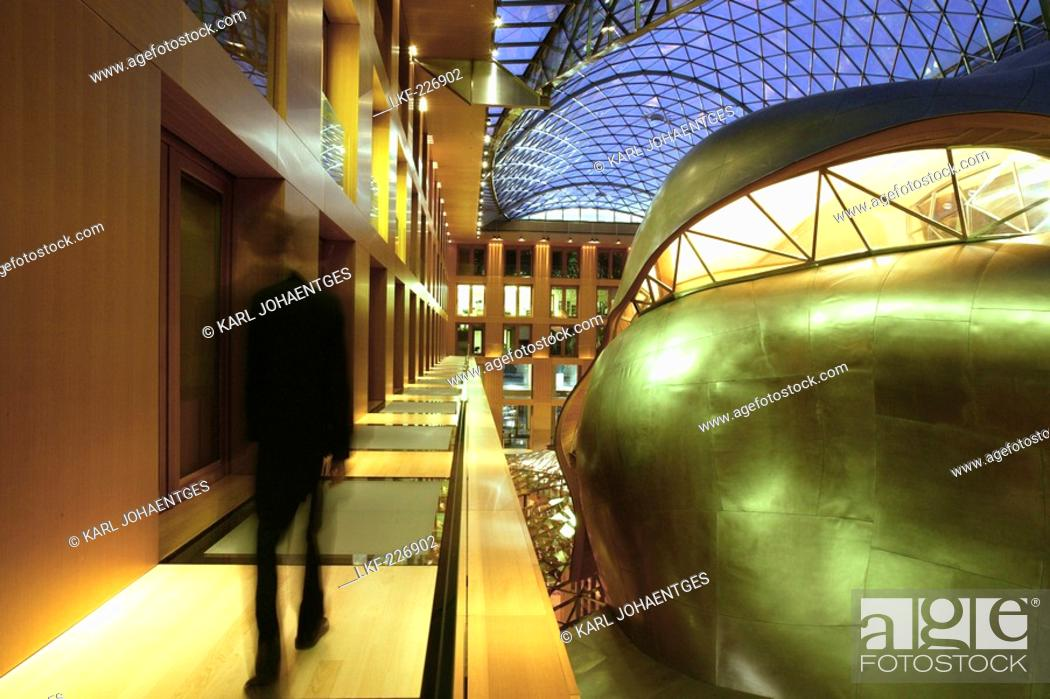 Interior Dz Bank Frank O Gehry Pariser Platz 3 Berlin Germany Stock Photo Picture And Rights Managed Image Pic Lkf 226902 Agefotostock