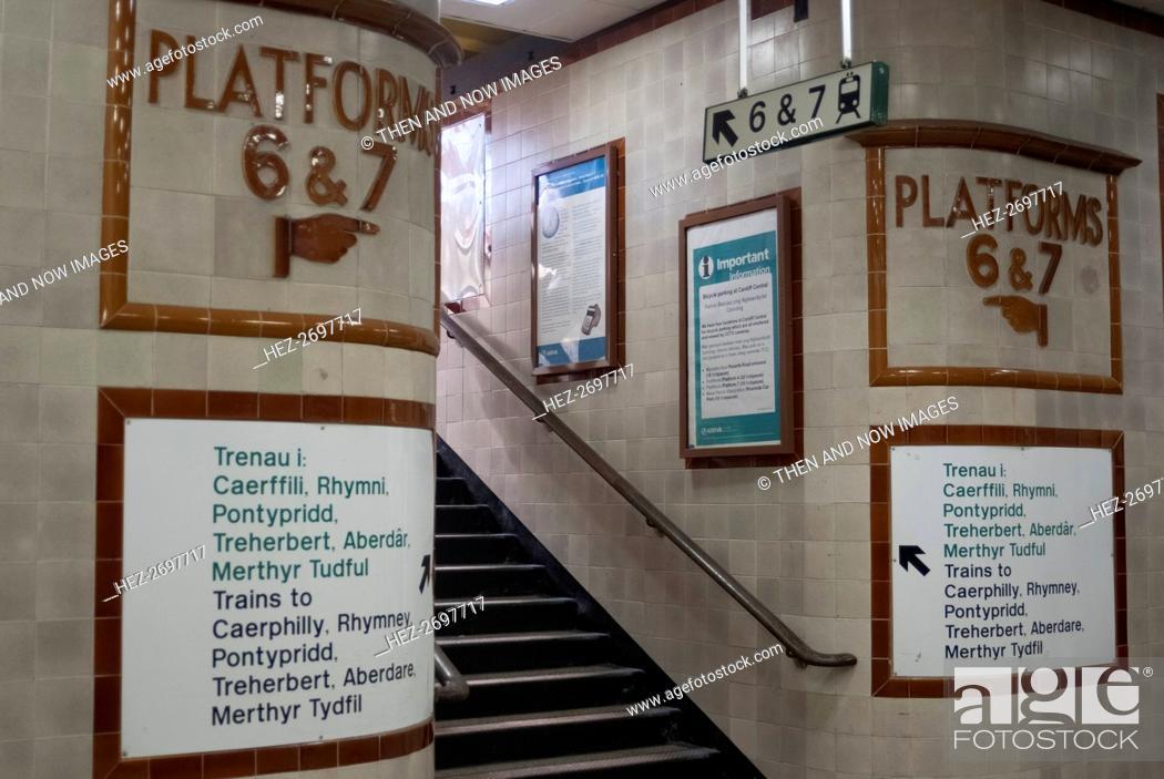 Stock Photo: Cardiff train station, 2009. Creator: Ethel Davies.