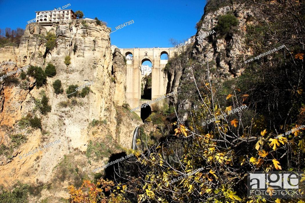 Stock Photo: Tajo. Ronda. Andalucia. Spain.