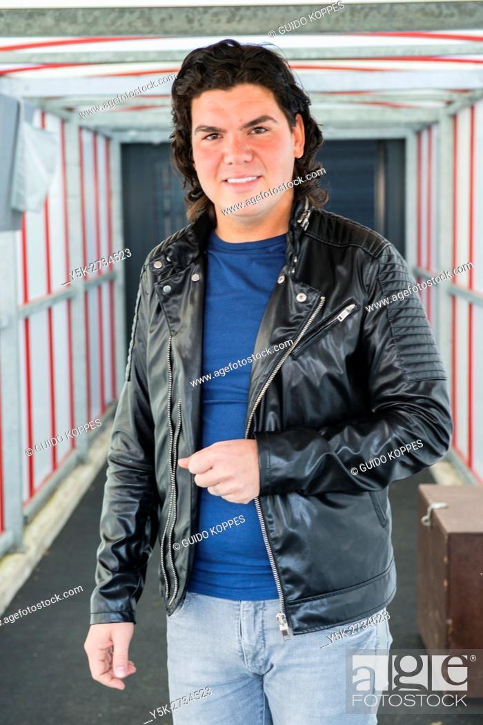 Stock Photo: Tilburg, Netherlands. Portrait of folk celebrity, singer and stylist Roy Donders.