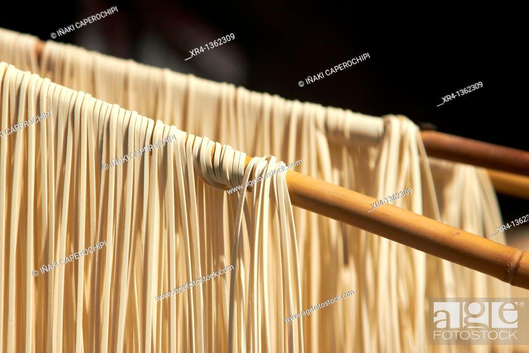 Stock Photo: Air drying Noodles, Weishan, Dali Bai Autonomous Prefecture, Yunnan, China.