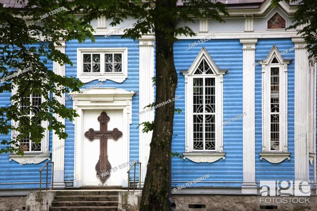 Stock Photo: Lithuania, Southern Lithuania, Druskininkai, Russian Orthodox Church.