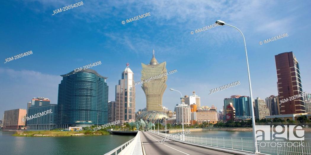 Stock Photo: China, Macou cityscape.
