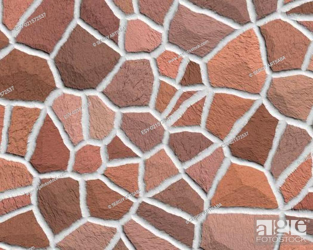 Stock Photo: Cracked stone seamless background.