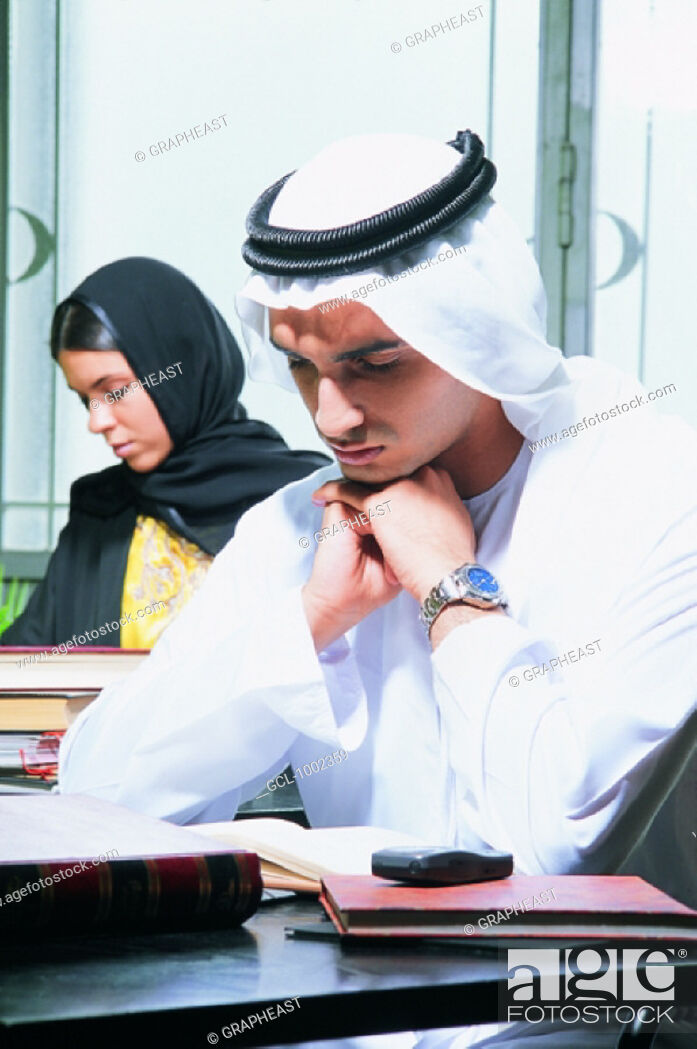 Stock Photo: Students studying.
