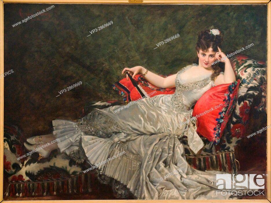 Imagen: Charles Durand aka Carolus-Duran. Portrait de Mademoiselle de Lancey. 1876 - Oil on Canvas. Petit Palais Museum. Paris - France.