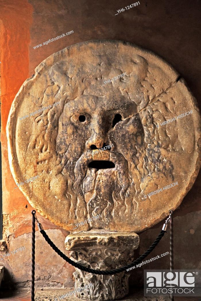 Stock Photo: Itaky, Rome, Church of Santa maria in Cosmedin, mouth of truth.