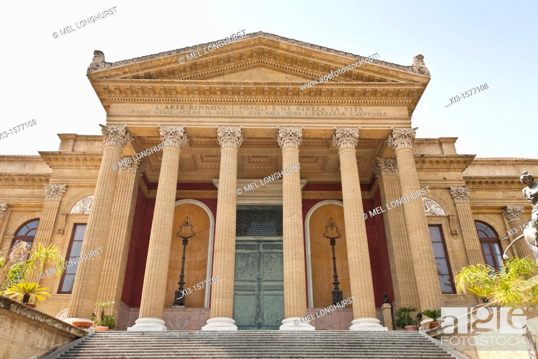 Palermo Opera House, Teatro Massimo, Piazza Giuseppe Verdi, Palermo ...