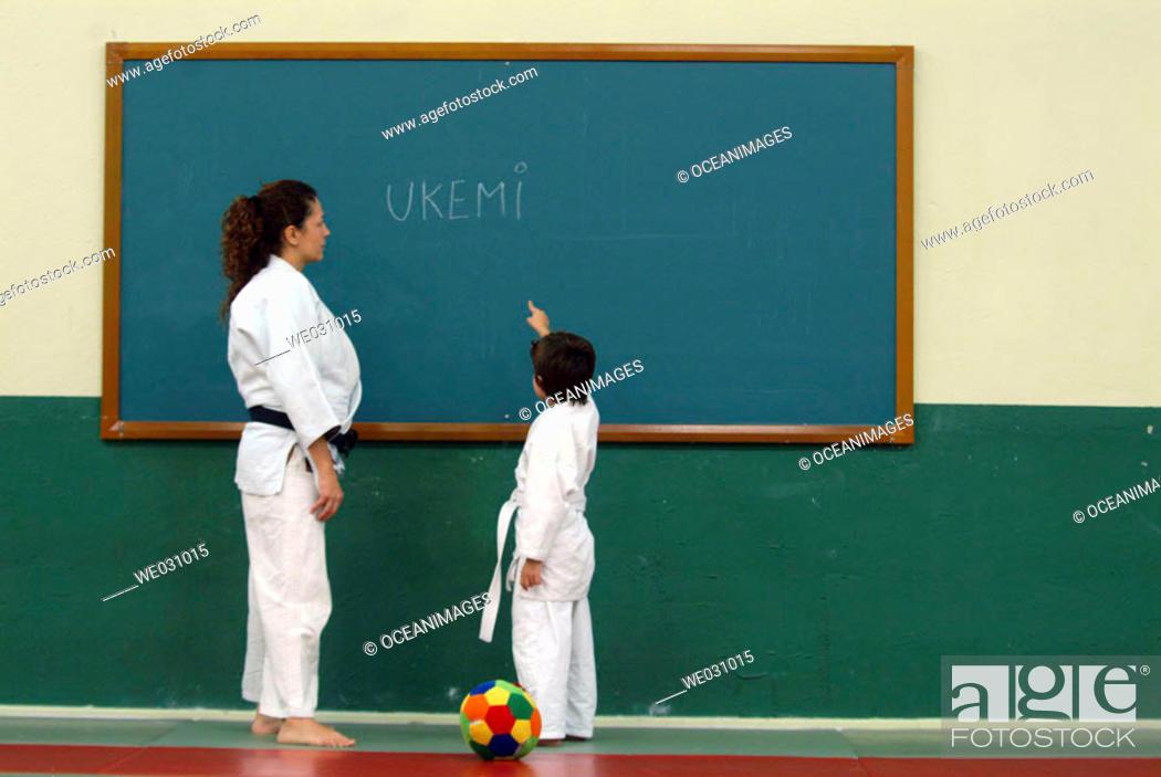 Stock Photo: Judo lesson.