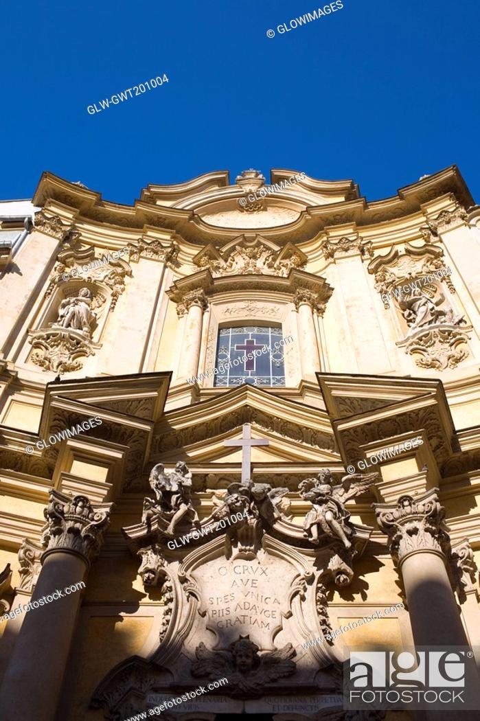 Stock Photo: Low angle view of a church, Rome, Italy.
