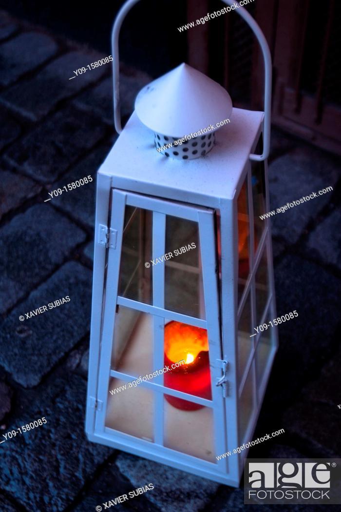 Stock Photo: Christmas lamp, Stockholm, Sweden.