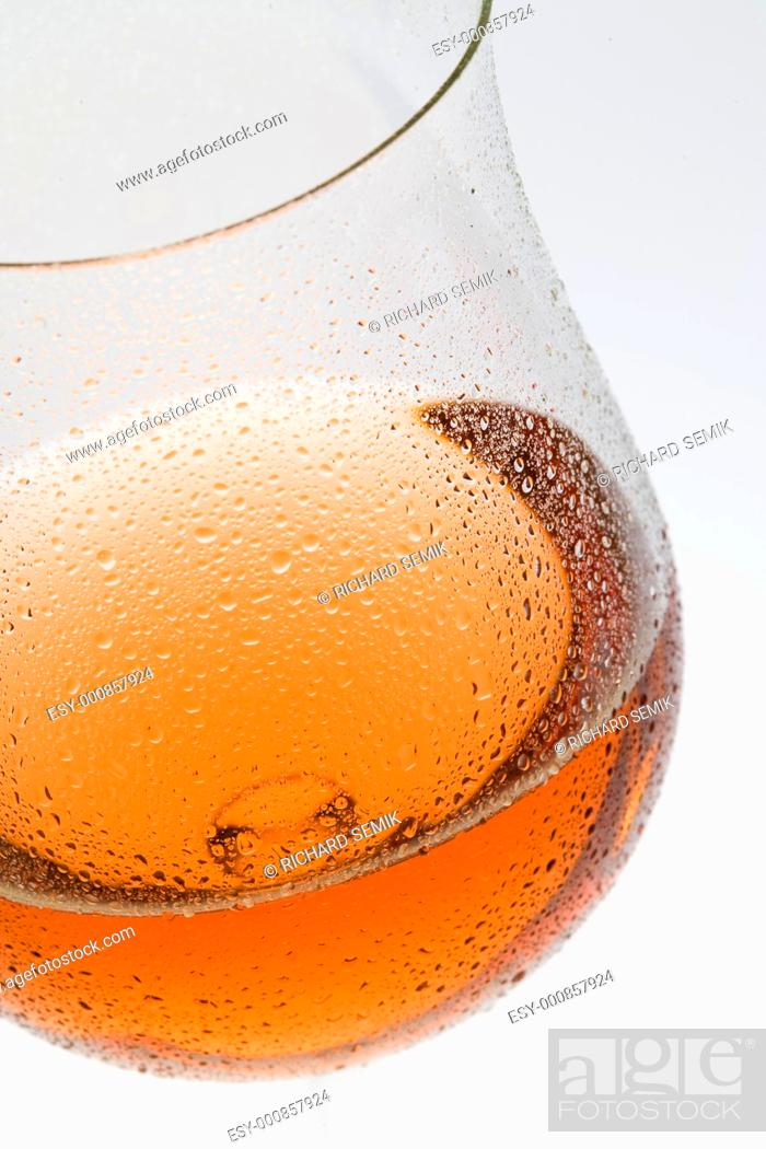 Stock Photo: wineglass with rosé wine.