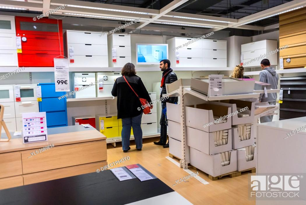 Paris, France, Couple Shopping in D.I.Y. Housewares Store, IKEA ...