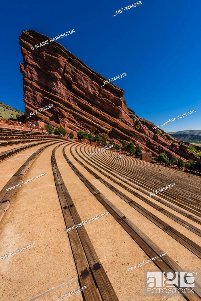 Stock Photo: Red Rocks Amphitheatre, Morrison, Colorado USA. The amphitheatre in a world famous concert venue.