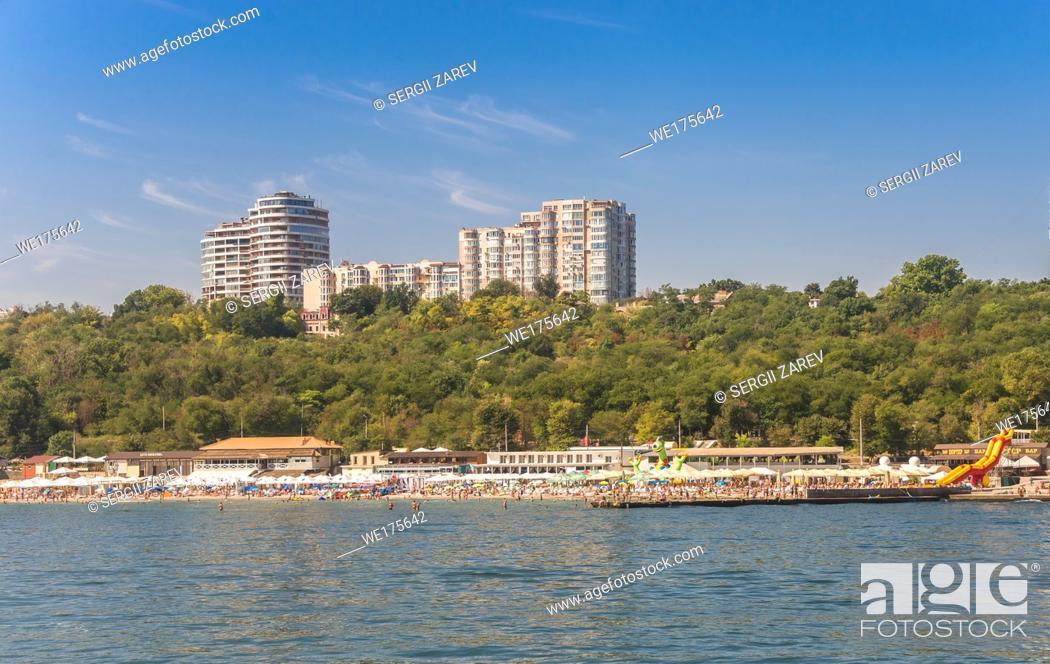 Stock Photo: Langeron beach in Odessa, Ukraine, in a sunny summer day.