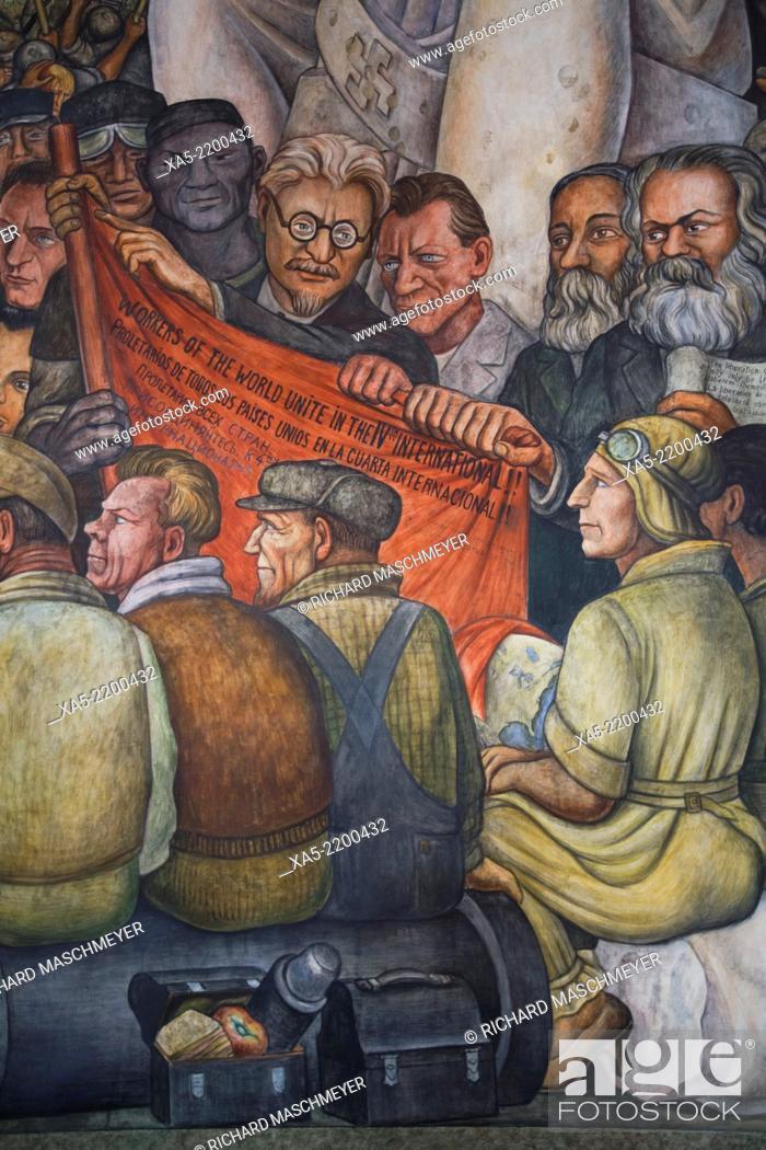 Mural By Diego Rivera El Hombre En El Cruce De Caminos O El Hombre