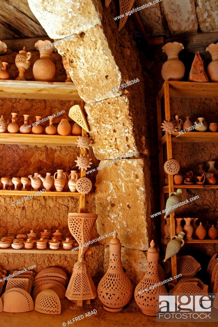 Stock Photo: factory and exhibition of ceramics, Djerba, Tunisia.