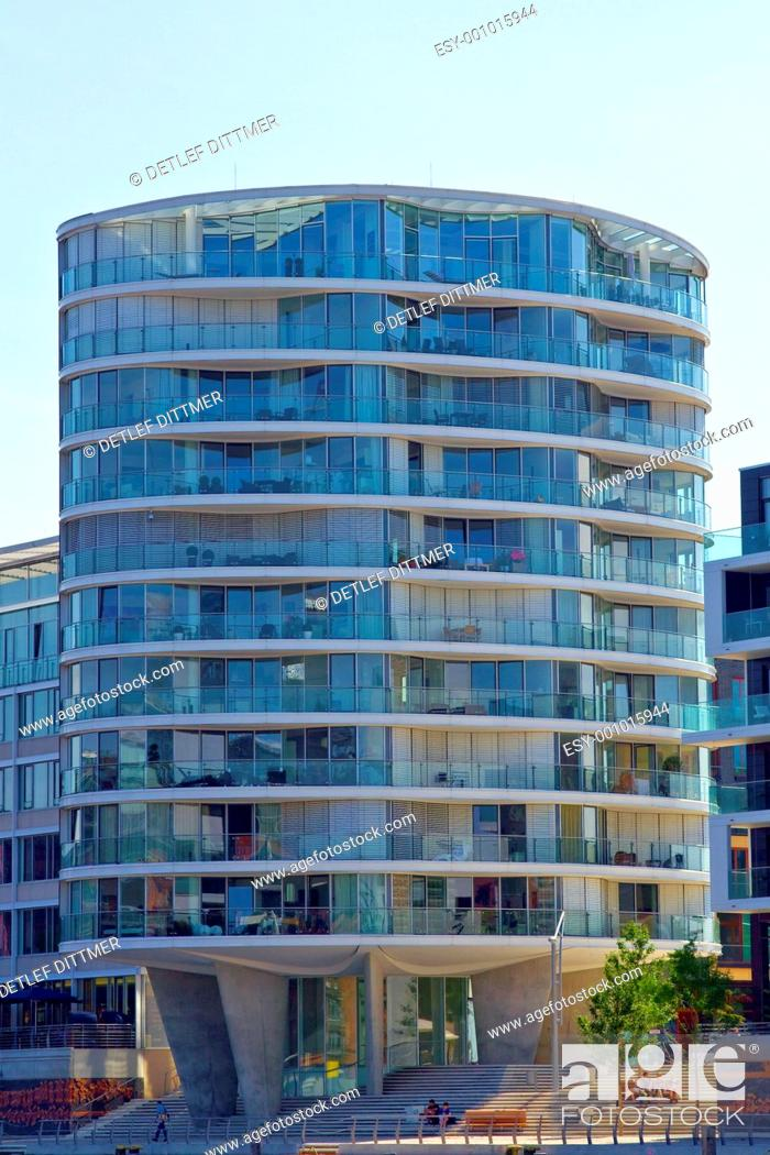 Stock Photo: Futuristisches Wohngebäude.