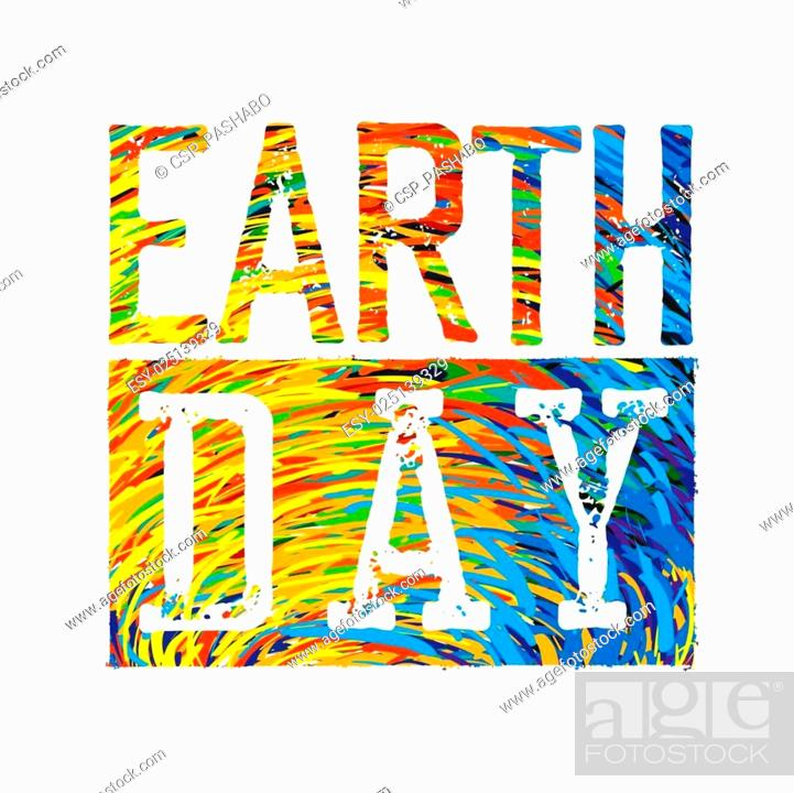 Stock Vector: Earth Day Colorful Logotype Design.