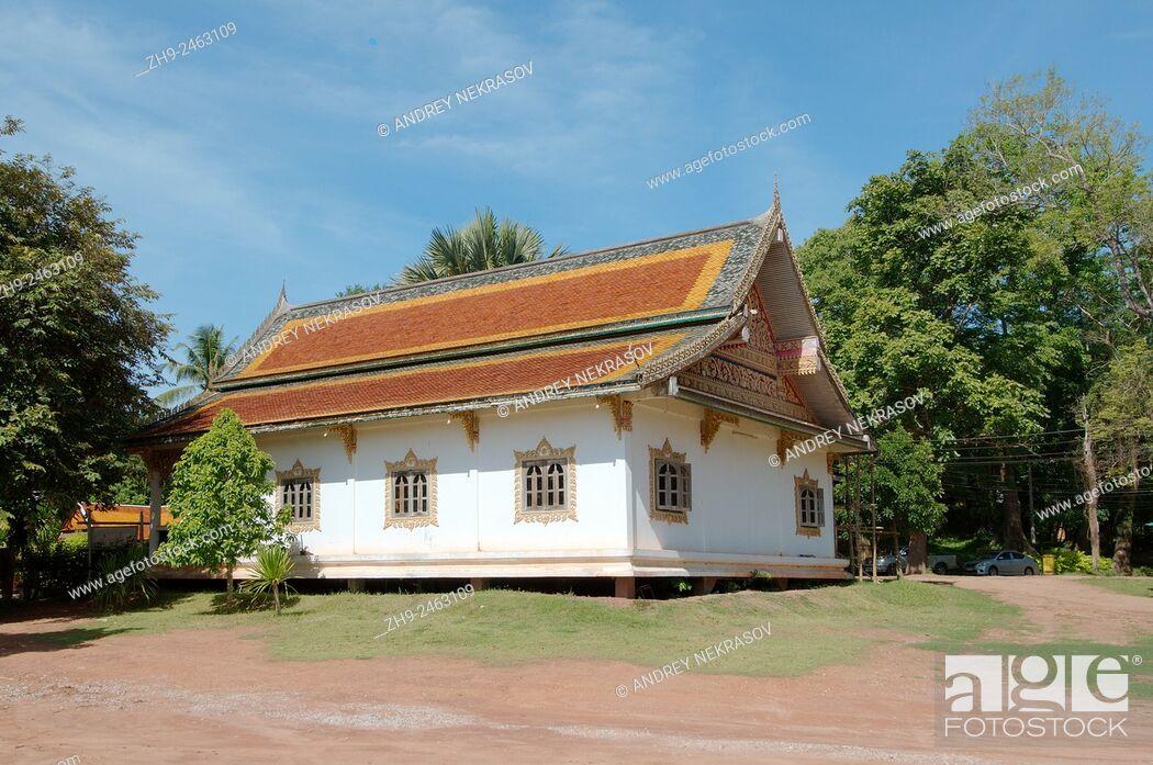 Stock Photo: House in traditional Thai style, Dan Sai, Loei province, Thailand.