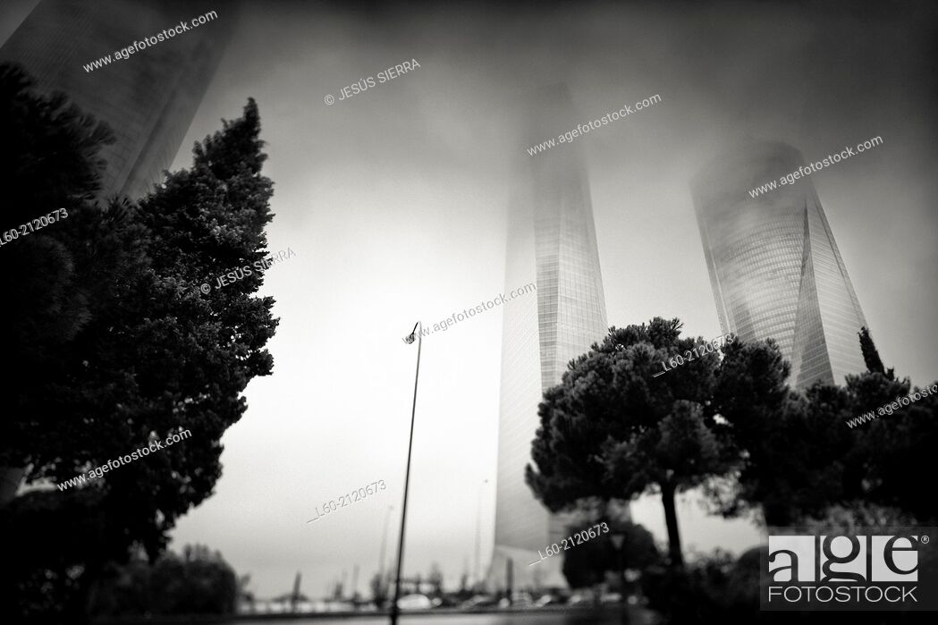 Stock Photo: Cuatro Torres, CTBA, Madrid, Spain.