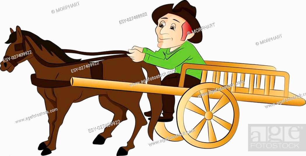 The Best Man Riding Horse Cartoon JPG