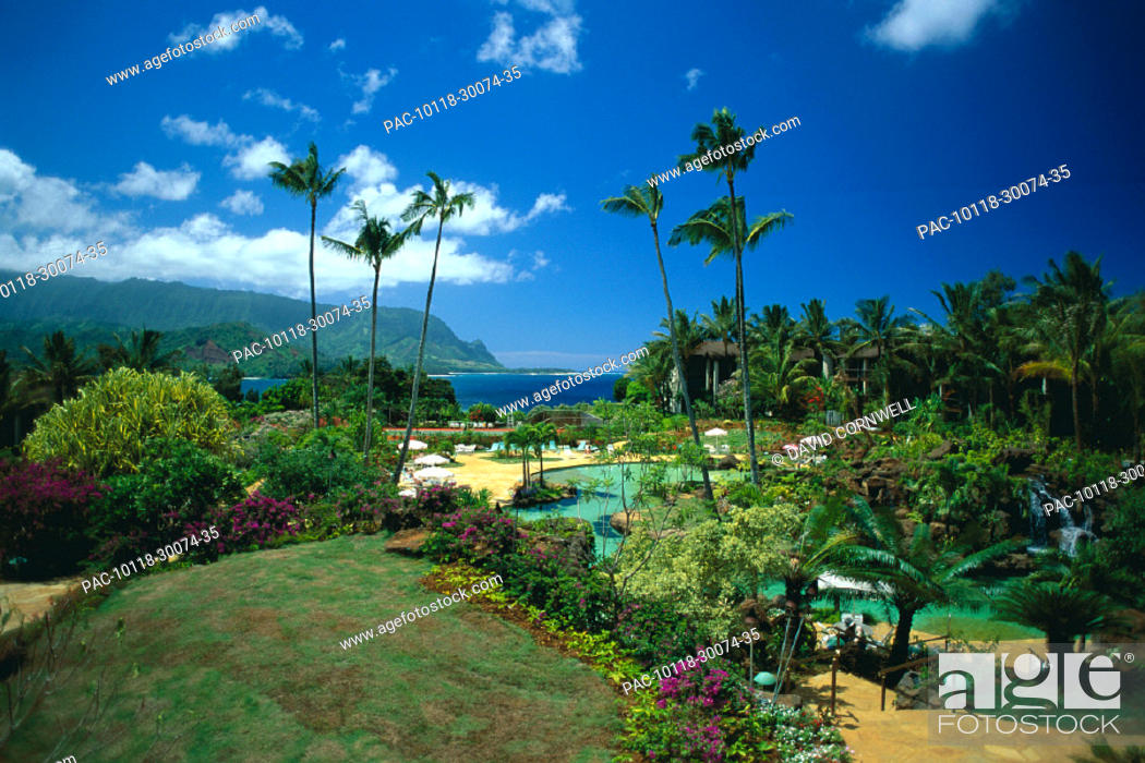 Hawaii Hanalei Bay Resort North Shore Kauai Pool From