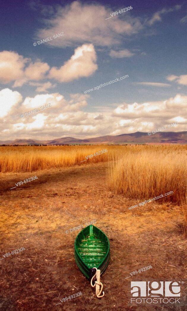 Stock Photo: Tablas de Daimiel National Park. Ciudad Real province, Castilla-La Mancha, Spain.
