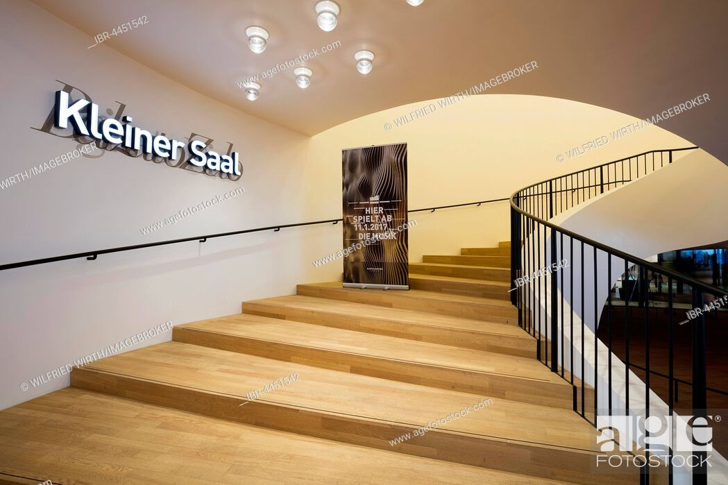 Photo de stock: Staircase to small hall, Elbe Philharmonic Concert Hall, Hamburg, Germany.