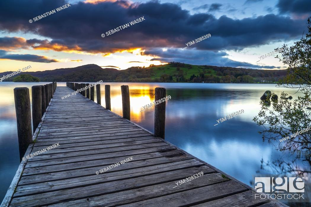 Stock Photo: Coniston Water, Coniston, Lake District National Park, Cumbria, England, UK, Europe.