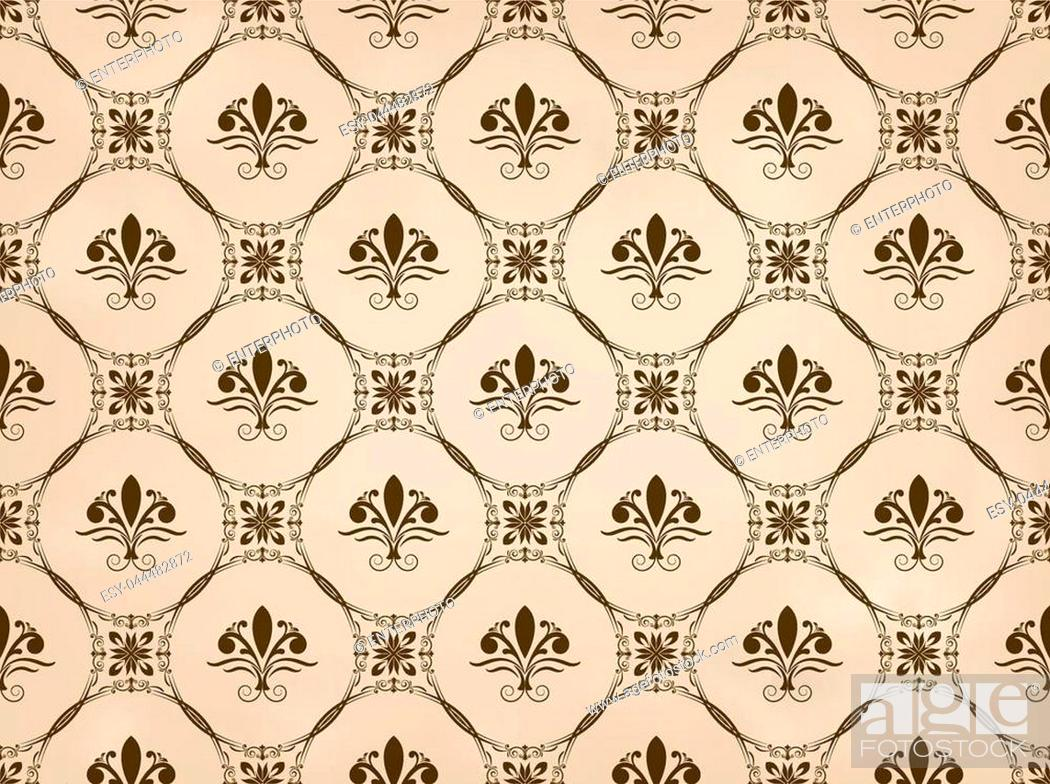 Stock Vector: retro wallpaper and vintage seamless pattern for background, pattern in swatches.